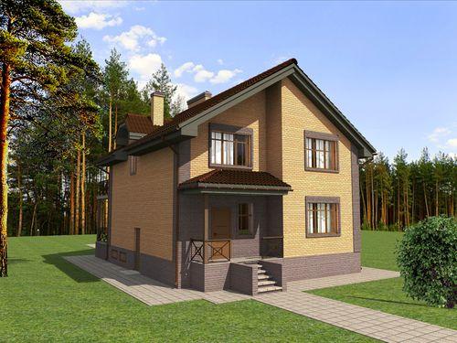Фото планировки одноэтажного дома 10 на 10: грамотный проект | 375x500